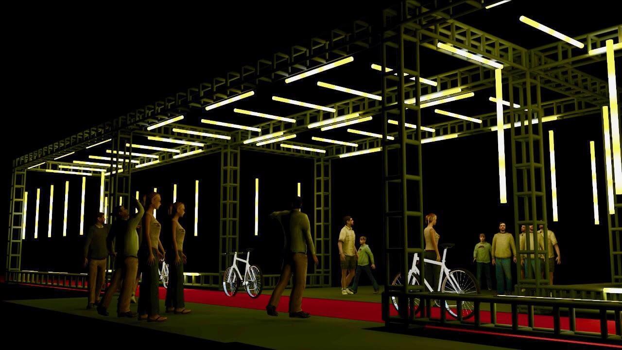 Light Path, obra imersiva idealizada para conscientização sobre acidentes de trânsito durante o Maio Amarelo