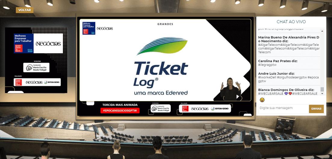 Ticket Log entre as melhores empresas para trabalhar