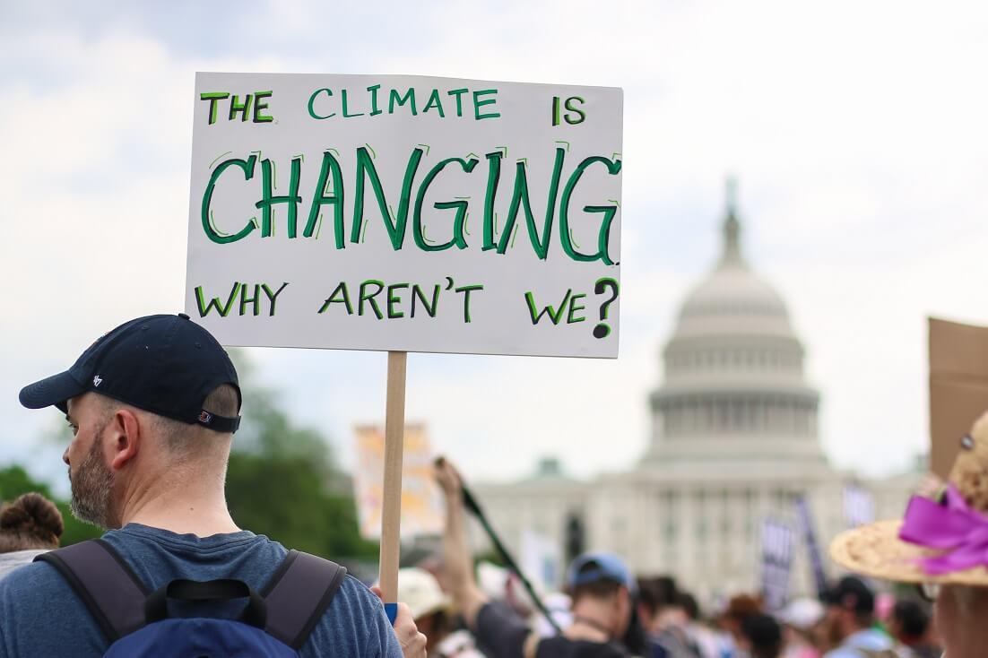Protesto contra as mudanças climáticas